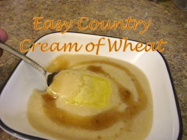 The start to my cream of wheat is a locally grown hard white wheat which gives the dish its light milky color.